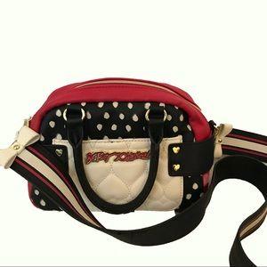 Betseyville Pink Black White Satchel Handbag